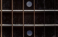 Детали шеи акустической гитары Стоковое Изображение RF