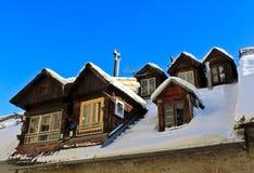 Деревянные мансарды Стоковая Фотография RF