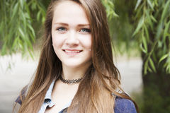 青少年的女孩 免版税图库摄影