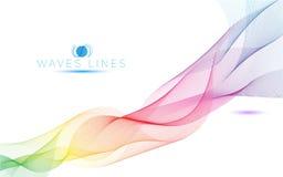 五颜六色的光波排行明亮的抽象样式例证 免版税库存照片