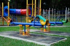 儿童室外操场在雪兰莪,马来西亚 免版税图库摄影