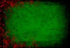 Зеленая и красная предпосылка рождества Стоковое Изображение