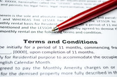 期限和条件 免版税库存照片