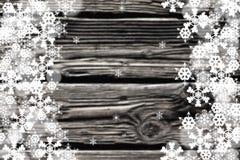 雪花边界的黑白图象与 免版税图库摄影