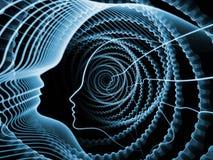 灵魂和头脑的形象化 库存图片