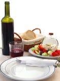 地中海的饮食 免版税库存图片