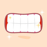 发光的健康牙关闭  库存照片