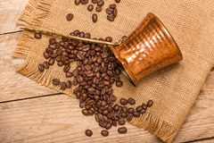 Кофе и чайник Стоковое фото RF