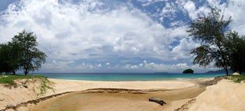 刁曼岛全景在马来西亚 库存照片