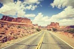 葡萄酒定了调子风景路,旅行概念图片,美国 免版税库存照片