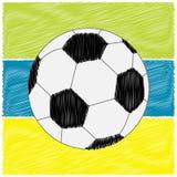 橄榄球在小条的足球 杂文作用 平的设计样式 图库摄影
