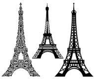 Комплект Эйфелева башни Стоковые Изображения RF