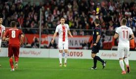 波兰-捷克友好的比赛 免版税库存照片