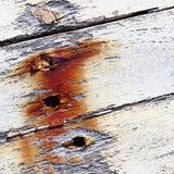 Старая шлюпка с текстурой предпосылки краски шелушения Стоковое фото RF