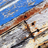 Старая шлюпка с текстурой предпосылки краски шелушения Стоковое Изображение