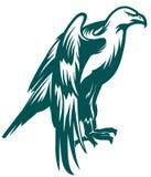 老鹰风格化标志 免版税库存图片