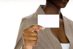 κενή επαγγελματική κάρτα Στοκ Φωτογραφία