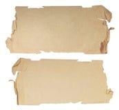 被撕毁的纸部分 图库摄影