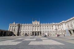 皇家马德里的宫殿 库存照片