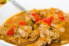 鸡胗炖煮的食物 免版税库存照片