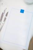 在板材的菜单 库存图片
