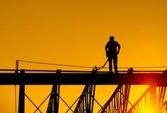 建筑查出的好成套装备工作者 免版税库存图片