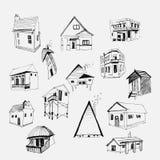 被设置的传染媒介房子 免版税图库摄影