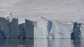 冰川在南极洲 免版税库存图片
