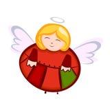 белизна ангела изолированная рождеством Стоковое Фото