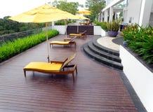 设计庭院屋顶顶层 免版税库存图片