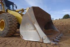 装载者铁锹,挖掘机 免版税库存图片