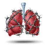 肺痛苦 免版税图库摄影