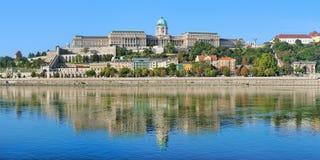 王宫在布达佩斯,匈牙利布达城堡  免版税库存照片