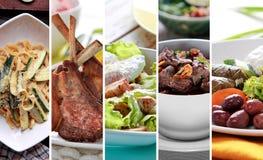 希腊混合食物 免版税库存图片