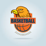 篮球商标模板 库存照片
