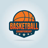 篮球商标模板 库存图片