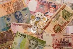 混杂的世界货币 免版税库存图片