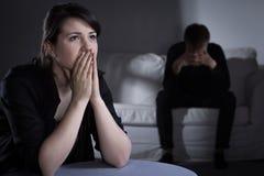 Проблемы в замужестве Стоковое Фото