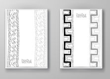 与手拉的乱画边界的小册子 免版税库存照片