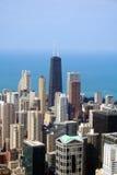 空中芝加哥地平线视图 免版税库存图片