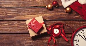 圣诞节礼物准备好包装 免版税库存照片