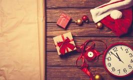圣诞节礼物准备好包装 库存照片