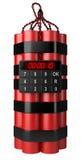 Βόμβα με το ψηφιακό χρονόμετρο ρολογιών Στοκ εικόνα με δικαίωμα ελεύθερης χρήσης