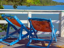 热带的海滩胜地 免版税库存照片