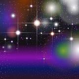 Ζωηρόχρωμο γεωμετρικό υπόβαθρο με τα ακτινοβολώντας αστέρια Στοκ Φωτογραφία