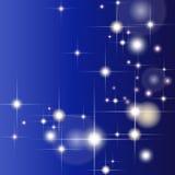 Αφηρημένο γεωμετρικό υπόβαθρο με τα ακτινοβολώντας αστέρια Στοκ Εικόνα
