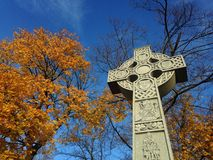 凯尔特跨的爱尔兰饥荒纪念碑 免版税库存照片