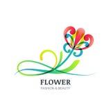 五颜六色的异乎寻常的花的传染媒介例证 免版税库存图片