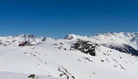 滑雪吹口哨 免版税库存照片
