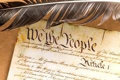 Αμερικανικό σύνταγμα Στοκ φωτογραφία με δικαίωμα ελεύθερης χρήσης
